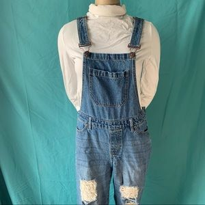 BLUENOTES OVERALLS with RIPPED JEANS